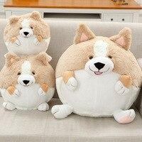 1pcs Cute Corgi Dog Plush Toy Stuffed Soft Round Body Puppy Dog Doll Pillow 50cm Best Kids Toys for children brinquedos juguetes