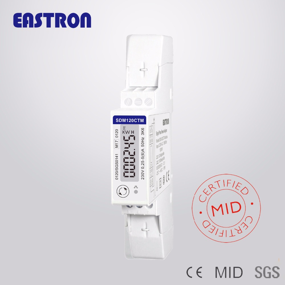 Sdm120ct-m Rs485 Kwh,kvarh,u,i,p,q,pf,hz,dmd Measurement, Din Rail Ct Connected Energy Meter Non-mid