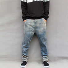 New Arrival Plus Size Men's Jeans Spring and Autumn Vintage Large Pants Low-rise Trousers