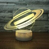 Children Bedroom Decor Colorful Gradient Universe Planet Desk Table Lamp 3D Led Creative Night Light Atmosphere Lighting Gifts