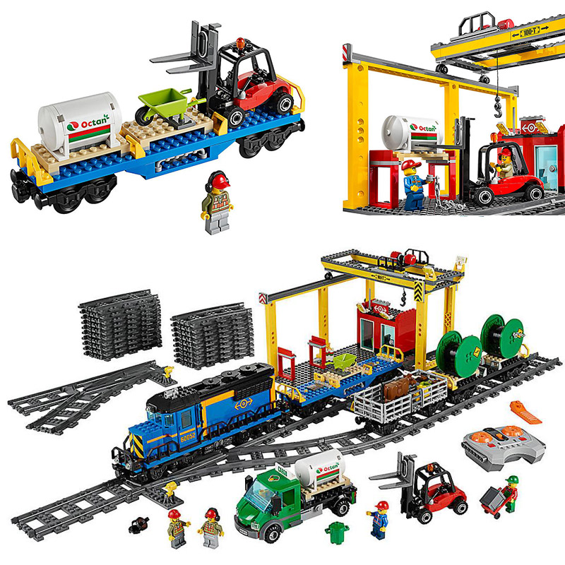 LEPIN 02008 City Series Cargo Train 60052 Truck Driver Farmer Building Blocks 959pcs Bricks Toys Gift For Children 1710 city swat series military fighter policeman building bricks compatible lepin city toys for children