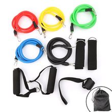 11pcs/set Fitness Training Latex Resistance Bands Crossfit Yoga Tubes Pull Rope