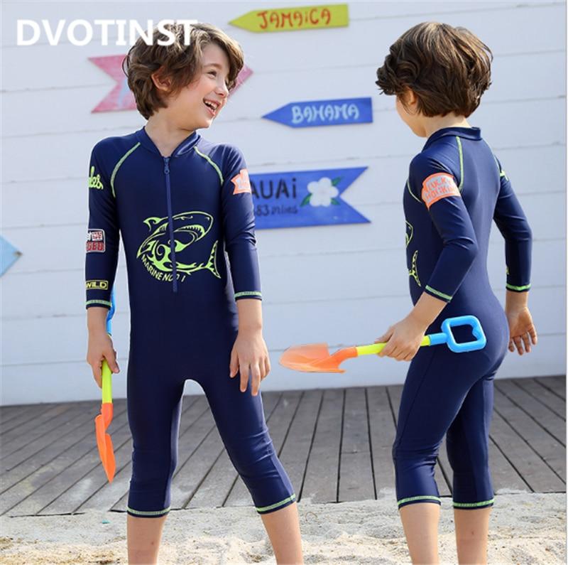 Dvotinst Baby Boys Swimwear Swim Suit Children Infantil Toddler Children Surfing Spa Bathing Beach Swim Suit Clothing Costume