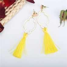 2019 New Top Popular Boho Long Fringe Resin  Dangle Earrings trendy geometric gilding copper womens earrings