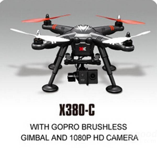 XK DETECT X380C 4CH GPS 2.4GHz RC Quadcopter with Gopro Brushless Gimbal & 1080P HD Camera Circle Hovering Headless Mode RTF gps навигатор lexand sa5 hd