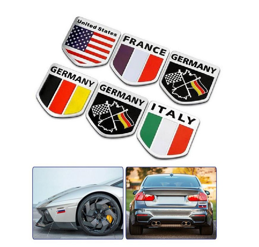 Germany Flag Badge Car Styling Decal Vinyl Car Sticker For Renault for Chevrolet