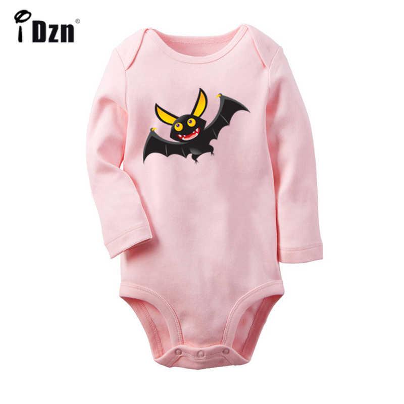 Вечерние костюмы на Хэллоуин с рисунком черного паука для новорожденных мальчиков и девочек, Униформа-комбинезон с принтом для младенцев, боди, одежда из 100% хлопка