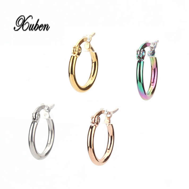 New Simplicity stainless steel rose gold   Earrings Brincos jewelry For women