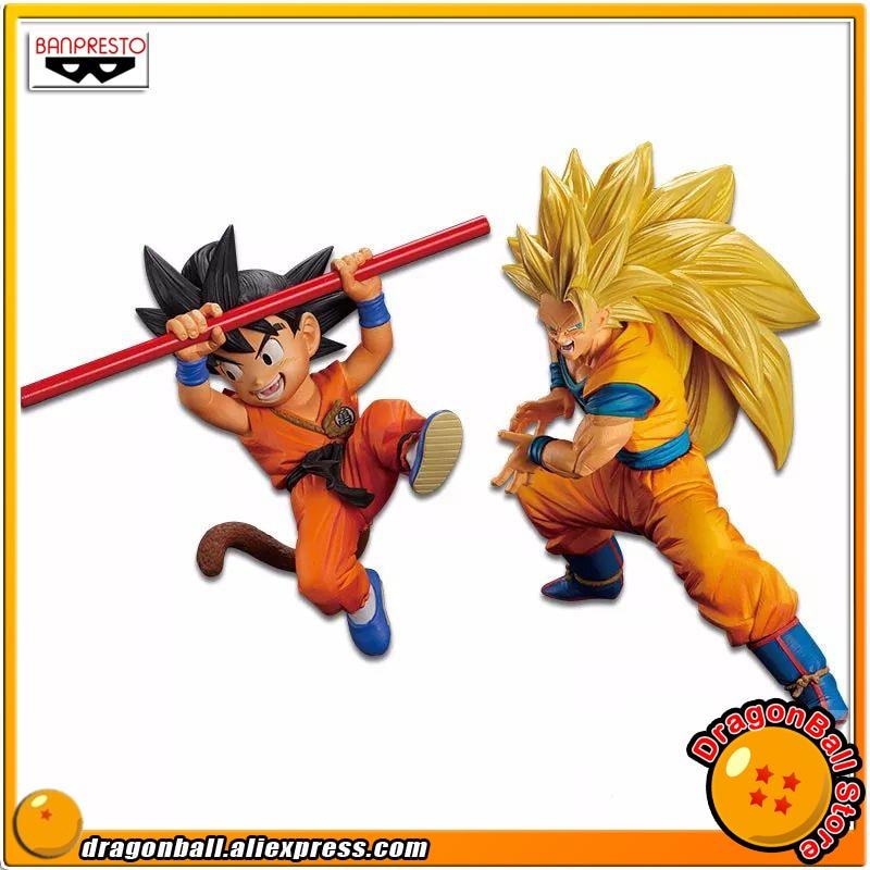 Anime Dragon Ball Z Original Banpresto Son Gokou FES !! vol.4 Collection Figure - Childhood Son Goku + Gokou Super Saiyan 3 original banpresto dxf the super warriors vol 4 collection figure super saiyan vegetto son goku from dragon ball super