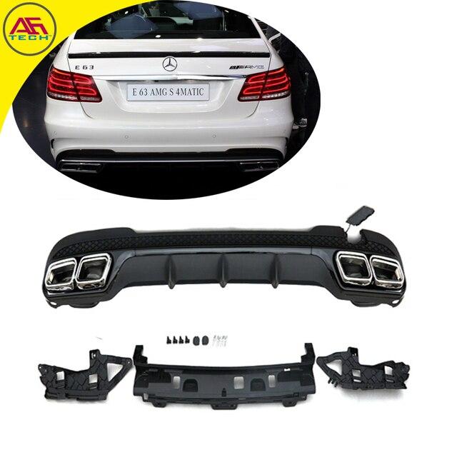 Rear Bottom Lip With Exhaust End Tips Per Diffuser For Mercedes Benz E Cl W212 E260l E300l