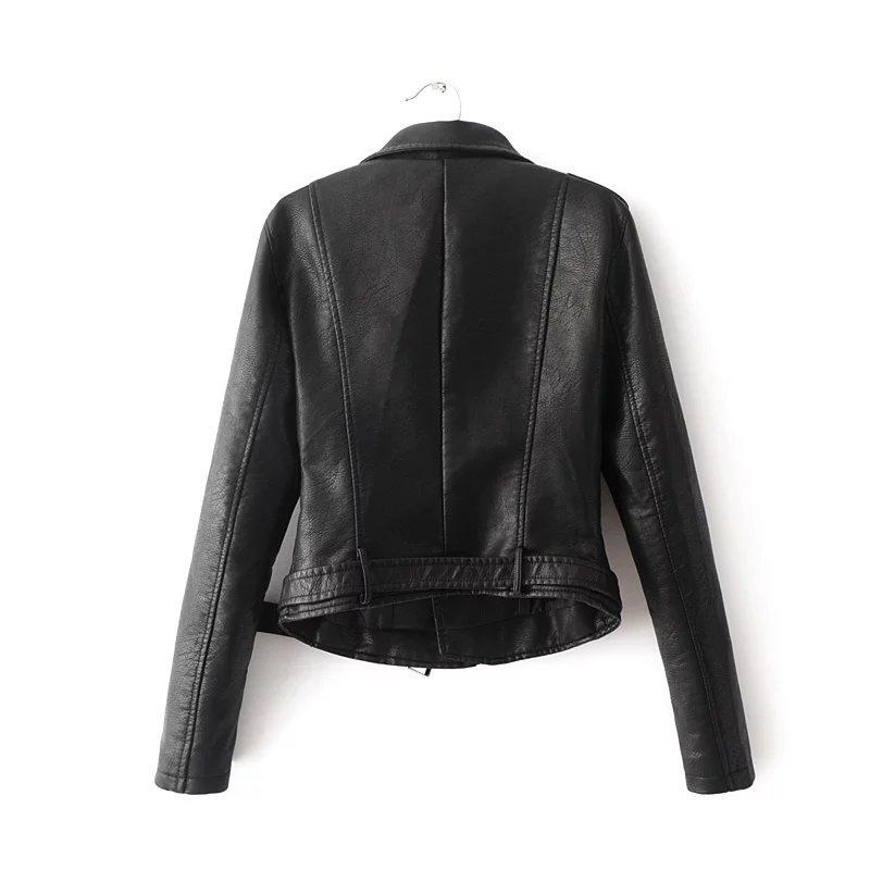 Aelegantmis Autumn New Short Faux Soft Leather Jacket Women Fashion Zipper Motorcycle PU Leather Jacket Ladies Basic Street Coat