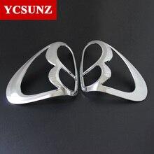 Автомобиль хромированными полосками Средства для укладки волос лампы украшения продукта ABS задняя крышка лампы для Mitsubishi L200 Triton 2006-2014 ycsunz