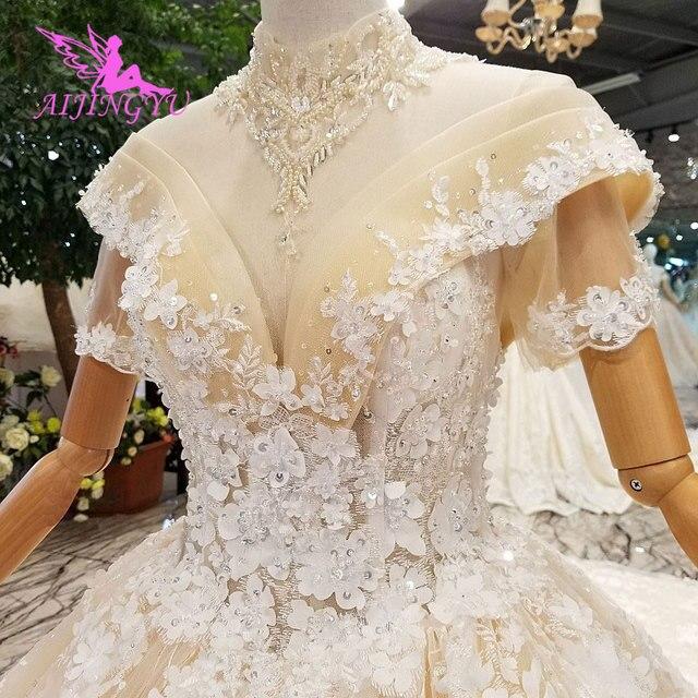 AIJINGYU Tüll Kleid Prinzessin Kleider Ehe Jäten Erschwinglichen Braut Puffy Rohre Tragen Kleider Für Besondere Anlässe