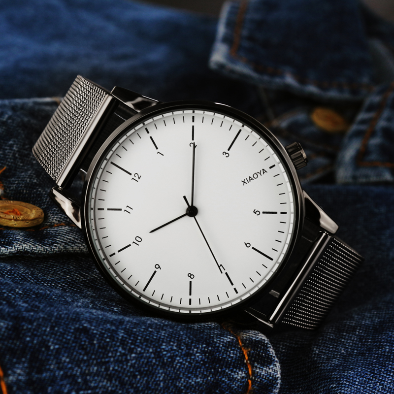 Top Brand Luxury Quartz Watch men Casual Black Japan quartz-watch stainless steel ultra thin clock male Relogio New Man Watches mce top brand mens watches automatic men watch luxury stainless steel wristwatches male clock montre with box 335