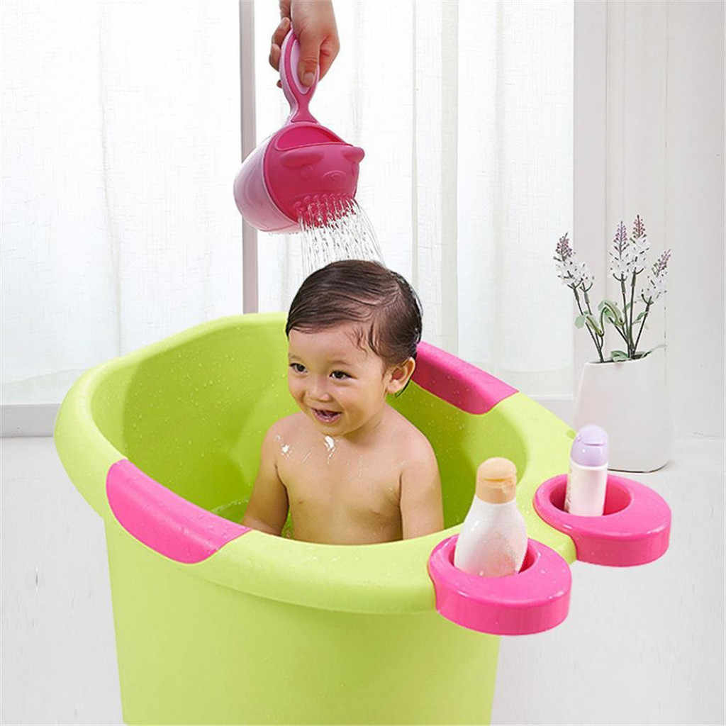 Baby Cartoon Bear Bathing Cup Newborn Kid Shower Shampoo Cup Bailer Baby Shower Water Spoon Bath Wash Cup For 2 Color Shower
