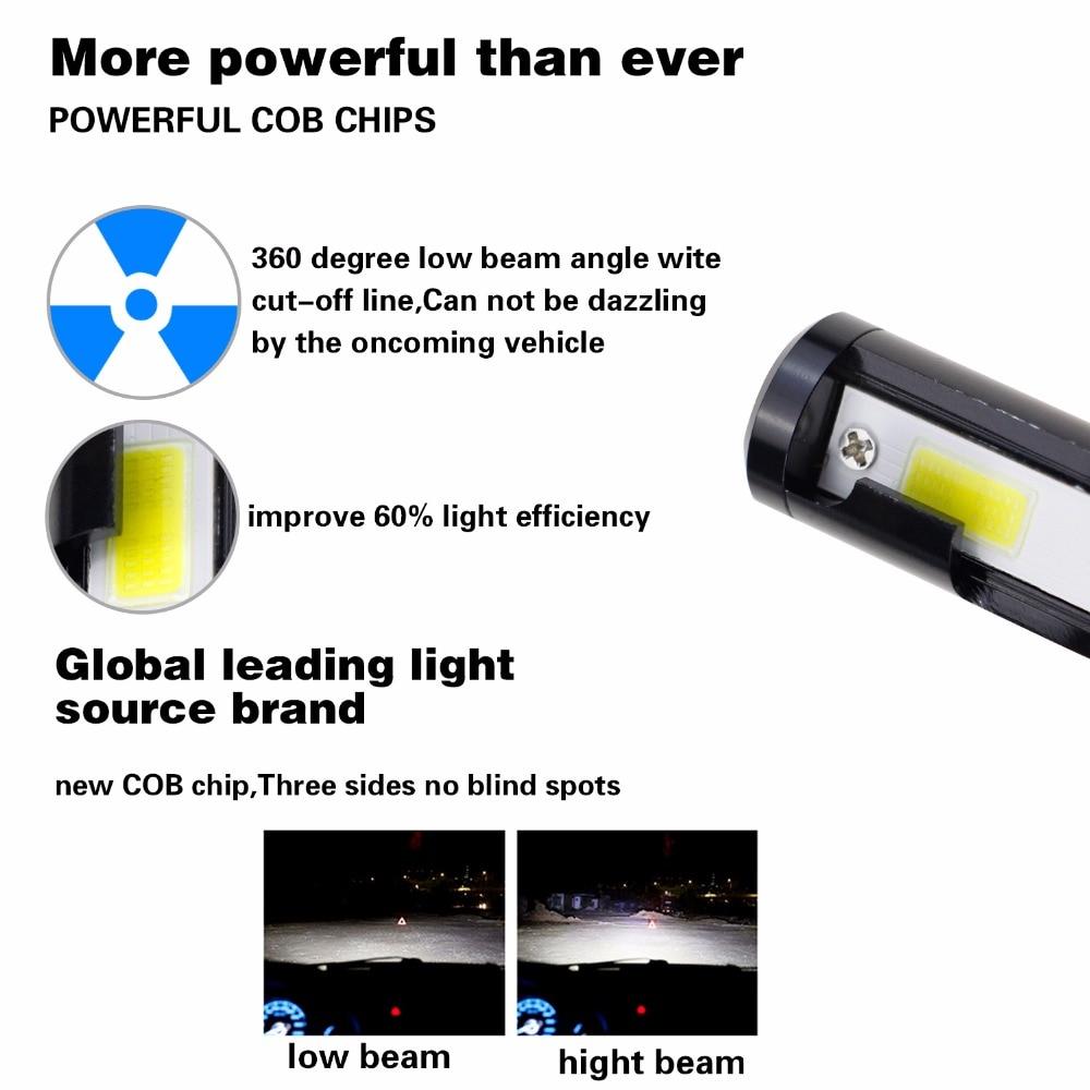 GEETANS 2Pcs H4 LED H7 H11 880 H3 9004 9005 9006 H1 COB - Φώτα αυτοκινήτων - Φωτογραφία 2