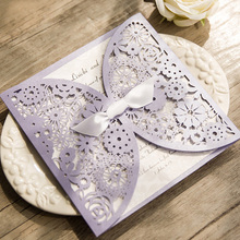KOWELL 1 Set Purple Flower Pattern Lavender Laser Cut