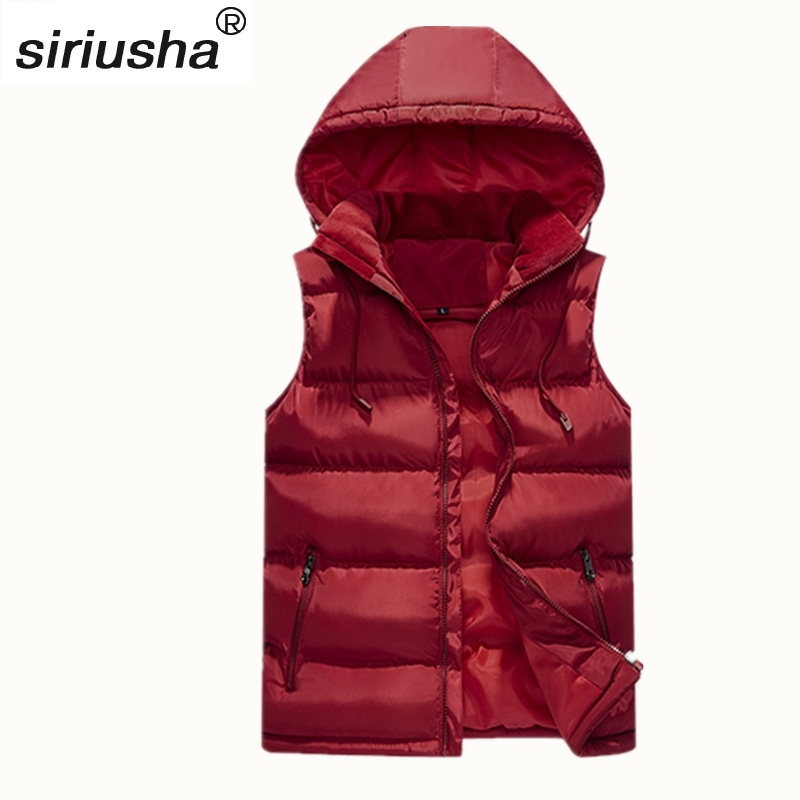 afda1eb1cb Sleeveless Down Cotton Men and Women Jacket Winter to -40 Thick Thermal  Hooded Vest Leisure