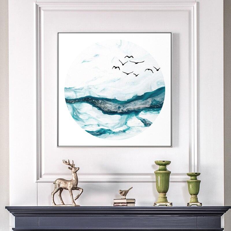 Абстрактный китайский всплеск горная река пейзаж холст настенная живопись Книги по искусству Плакаты и принты для Гостиная кабинет квадра... ...