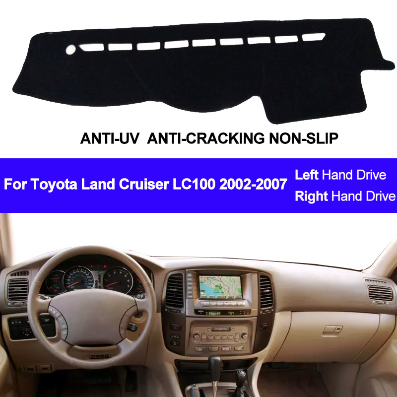 Car Dashboard Cover For Toyota Land Cruiser LC100 2002 2003 2004 2005 2006 2007 DashBoard Dash mat Pad Carpet Cover Sun Shade