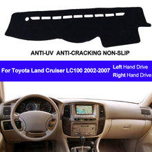 Car Dashboard Cover For Toyota Land Cruiser LC100 2002 2003 2004 2005 2006 2007 DashBoard Dash mat Pad Carpet Cover Sun Shade(China)