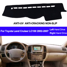 Couverture de tableau de bord, couverture de tableau de bord, couverture de tapis, pare soleil de tableau de bord, pour Toyota Land Cruiser LC100, 2002, 2003, 2004, 2005, 2006, 2007