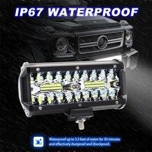 7 дюймов 120 Вт светодио дный светодиодный свет бар светодио дный водостойкие светодиодные стручки прожектор туман вождения освещение лампа для внедорожных Грузовиков автомобиль внедорожник лодка