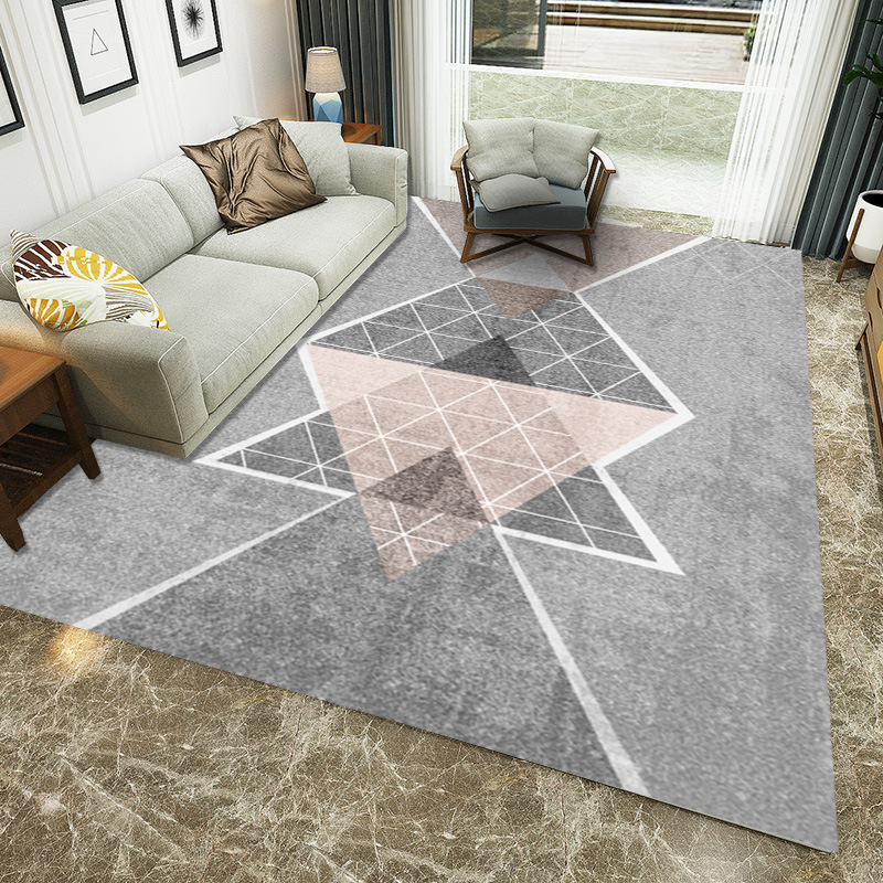 Nordic Geometric Carpets For Living Room Home Bedroom Rugs And Carpets Kilim Floor Kids Mat Coffee Table Area Rug Soft Velvet