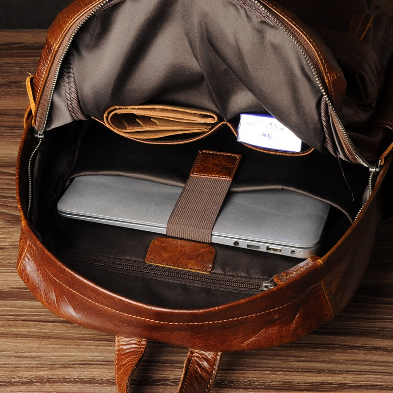 Computer Retro Rucksack Aus Schicht 1 Von Trend Baotou Ölwachs Leder Freizeit Aetoo Ledertasche Männlichen 1qzzd