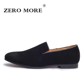 ZERO MORE Slip On Shoes Men Loafers Black 2019 Moccasins Solid Soft Mens Shoes Casual Large Sizes Fashion Breathable Blue Suede 2