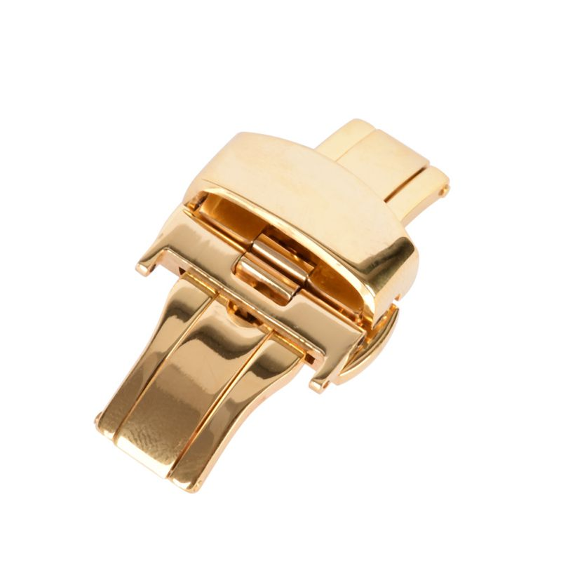 Butterfly Deployment Watch Bands Double Push Button Fold Strap Buckle Clasp 16/18/20/22/24mm tearoke butterfly deployment watch band double push button fold strap buckle clasp 16 18 20 22 24mm gold rose gold silver