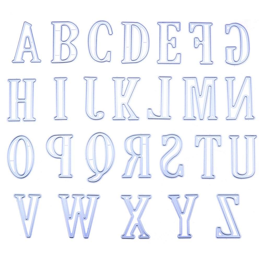 26pcs/lot 5CM Large Big Alphabet Letters Metal Cutting Dies For DIY Scrapbooking Photo Album Embossing Paper Cards Decor Crafts
