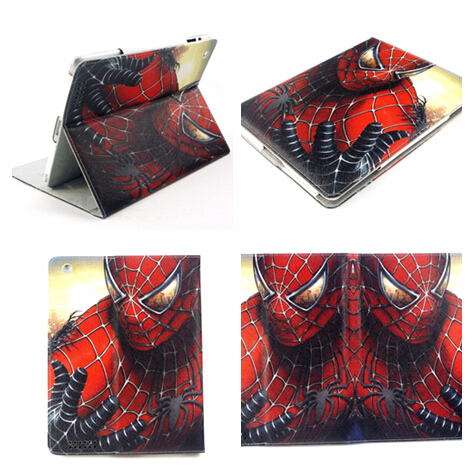 Spider Back Case iPad mini Hot 3D Cartoon Superman man Batman Flip Stand Leather Smart Cover 1/2 - Superseller 2014 store