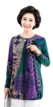 Middle Aged Female Plus Size Clothing Women Print Sequined Chiffon Blouse large Size 4XL 5xl shirt Ladies Loose Tops