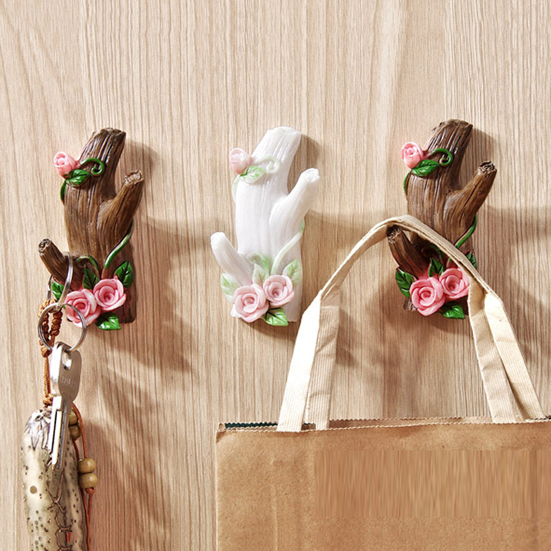 New Imitation Tree Branch Shape Storage Hook Wall Decor Hat Keys Clothes Organize Hanging Holder Kitchen Bathroom Racks