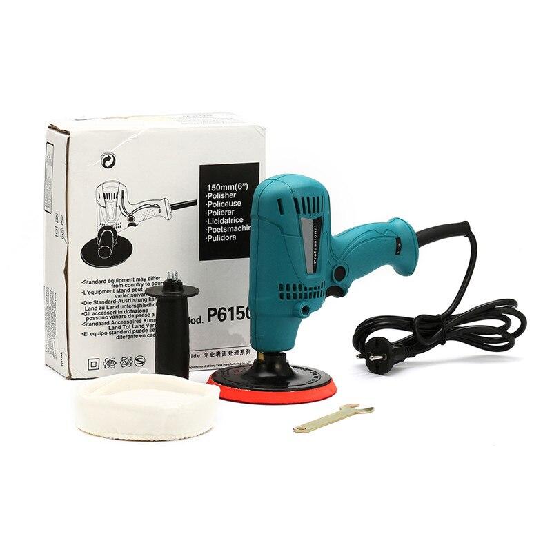600W Adjustable Speed Car Buffer Polishing Waxing Machine Furniture Ceramic Vehicle Surface Paint Care Washing Polisher Tools