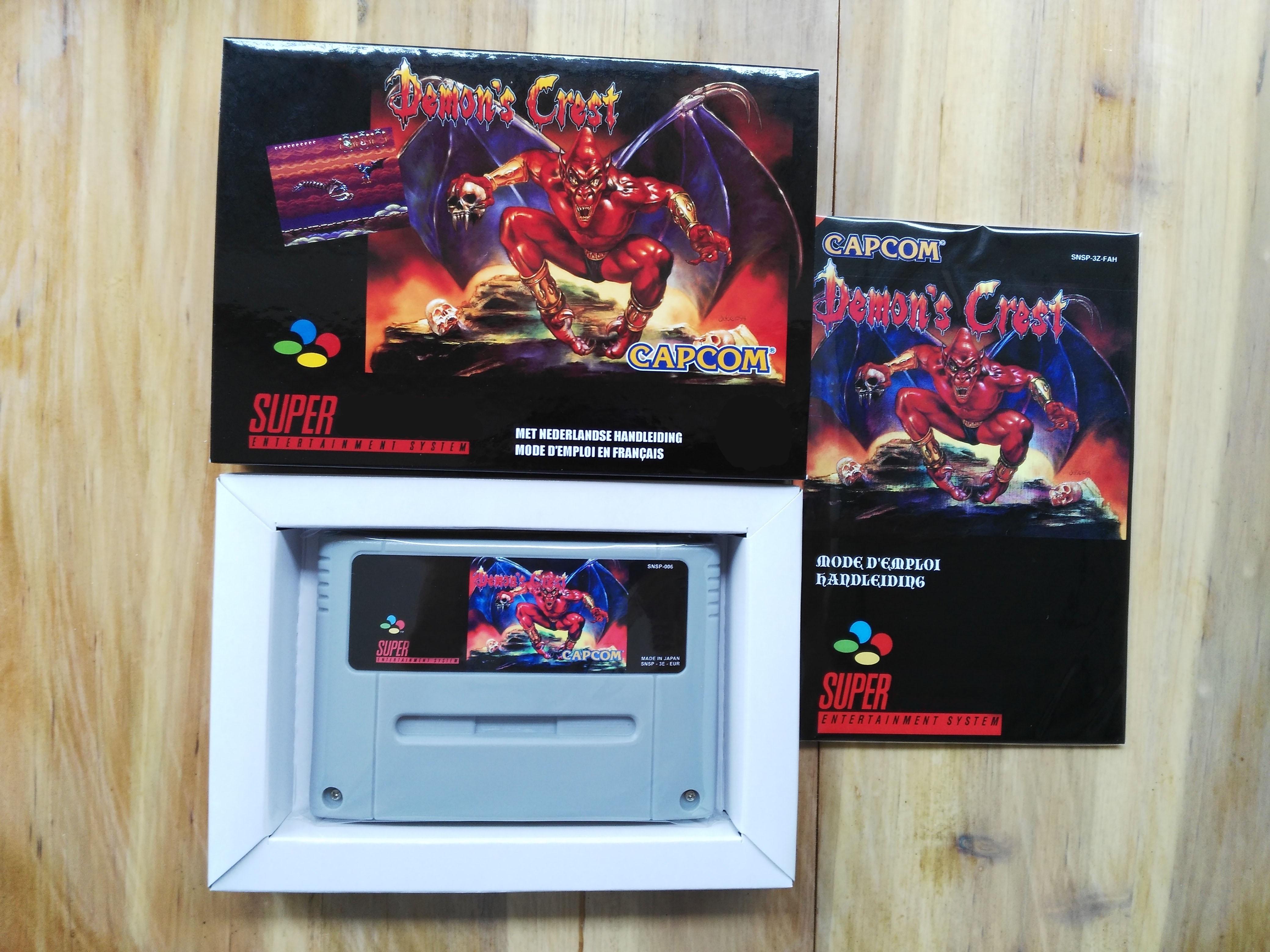 16Bit Games Demon s Crest French PAL Version Box Manual Cartridge