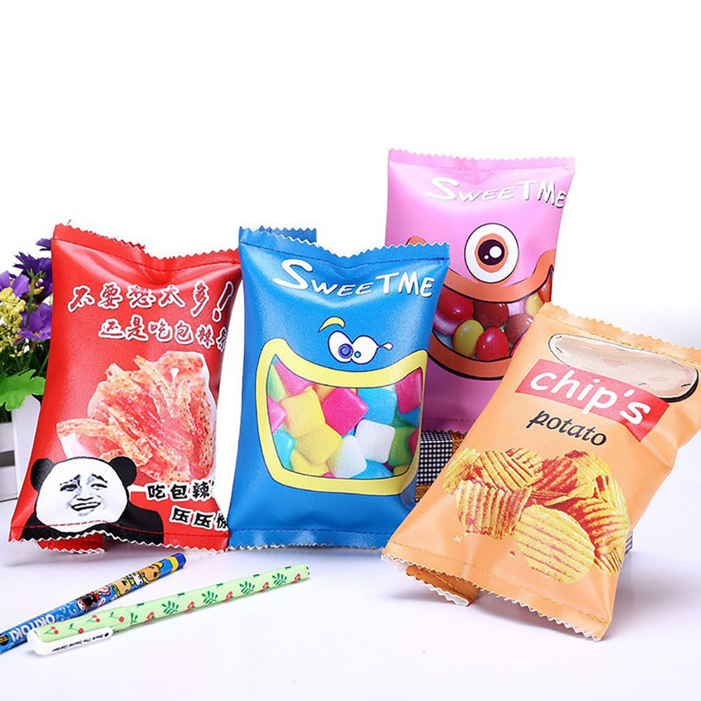 Fsd3 Cute Pencil Case Creative Snacks Pencil Bag Garment Bag For Kids Novelty Item Sep07 Hot Sale 50-70% OFF Home & Garden Home Storage & Organization