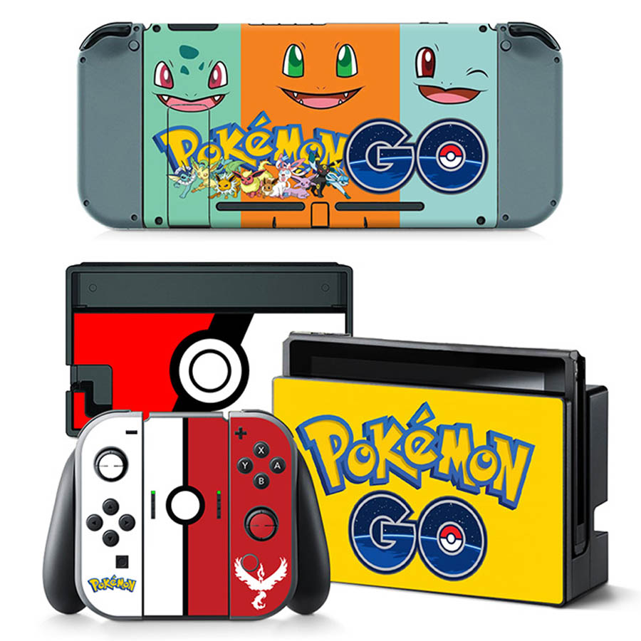 Poke Cover Skin Sticker For Nintend Switch NS Console&Controller Game Sticker Vinyl Decal Protector For NS Switch