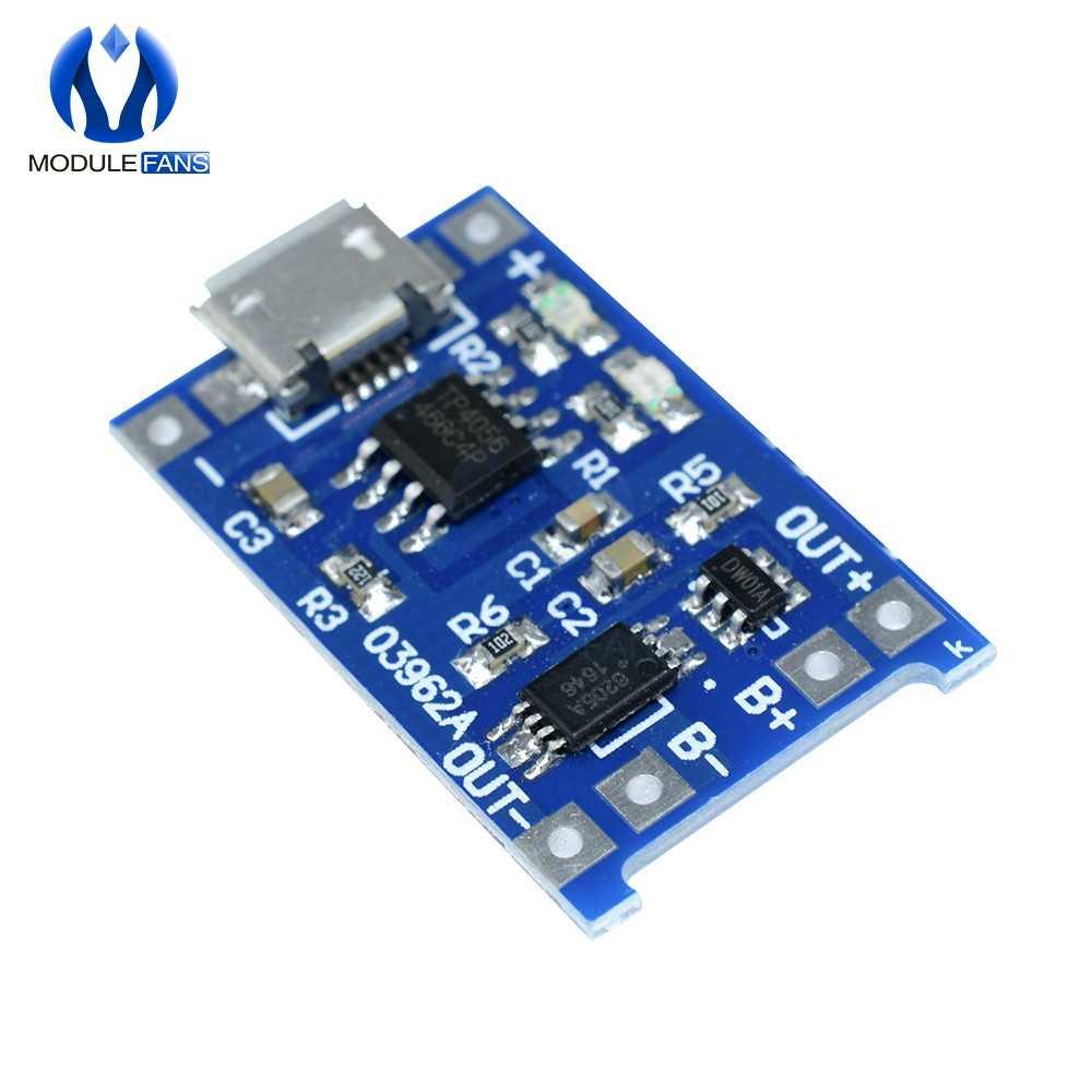 18650 литиевая Батарея Зарядное устройство Питание Micro usb-модуль TP4056 защита зарядных устройств доска с двумя функциями 5 V 1A
