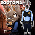 2016 New Arrival Movie Zootopia Cosplay Costume Officer Judy Hopps Costume Female Carnival Halloween Party Costume Plus Size