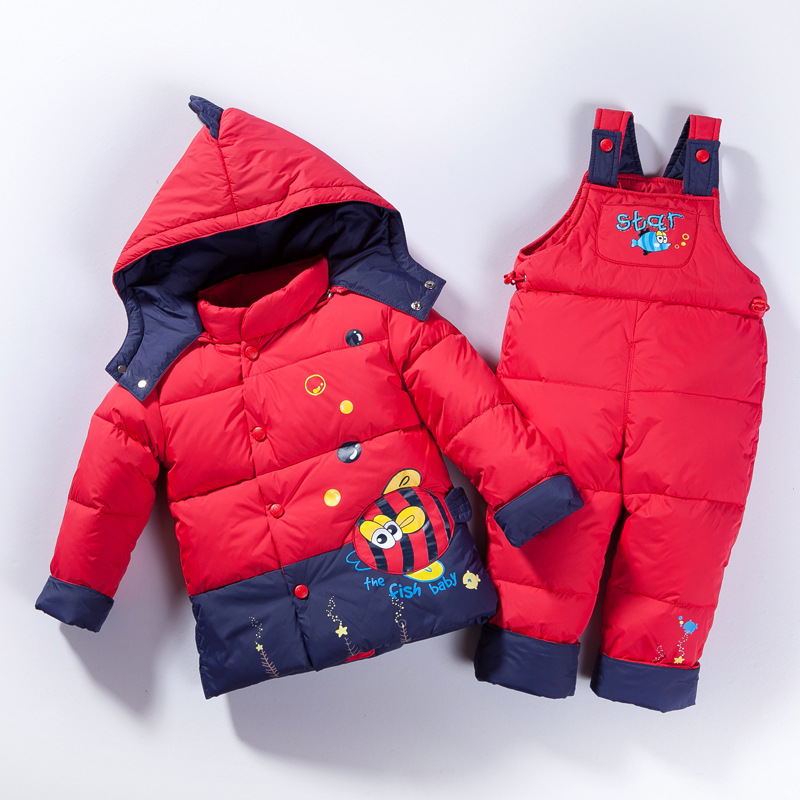 New winter baby's clothing baby's down jacket and pants kids' winter set 0-3years old children's clothes