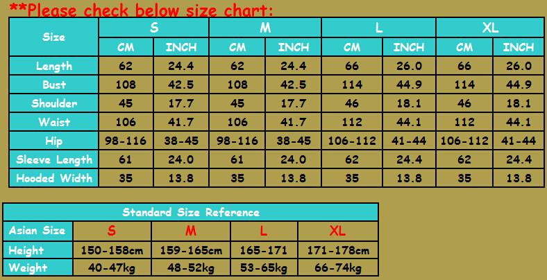 weiyi size S-XL