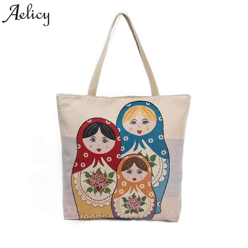 Dropshipping  SALE Printed Canvas Tote Casual Beach Bag Shopping Bag Handbags Bolsa Feminina SAC A MAIN