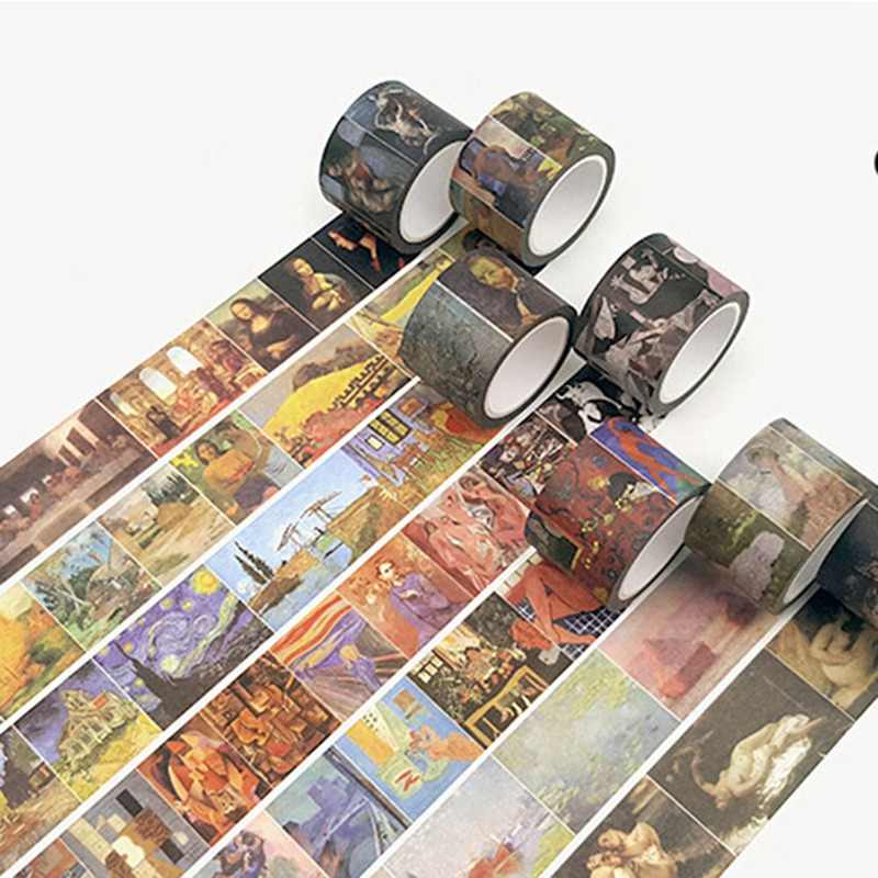 Vintage Style Retro Famous Painting Craft Washi Tape Scrapbooking Diary DIY Decorative Paper Masking Tape DIY Sticker Stationery