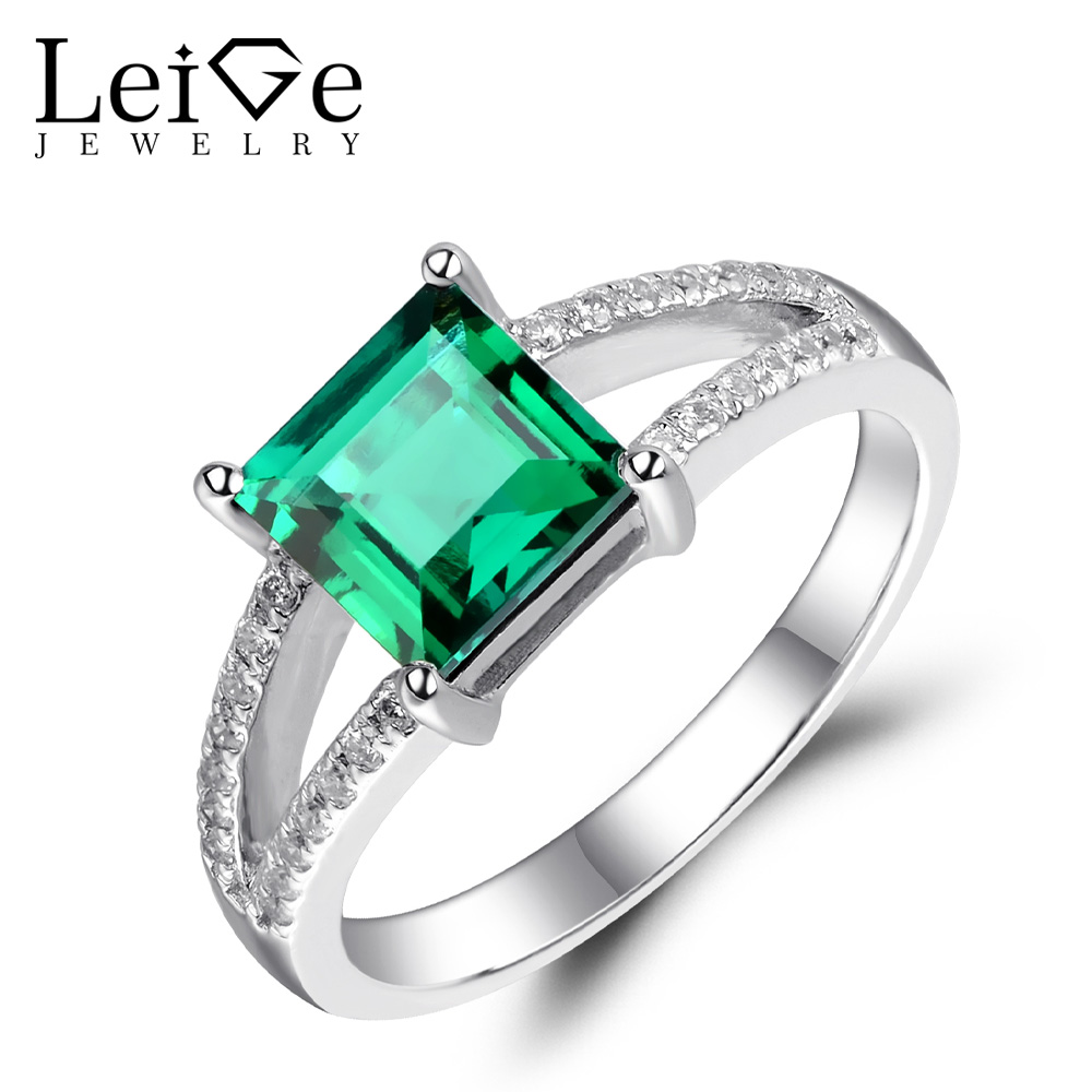 ring natural lab cut diamond engagement and white halo wedding emerald fullxfull grown il gold products