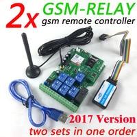 ENVÍO URGENTE rápido 2 juegos GSM relé tablero de Control remoto con siete relé en tiempo Real interruptor de salida GSM QUAD Diseño de banda board design board board board control -
