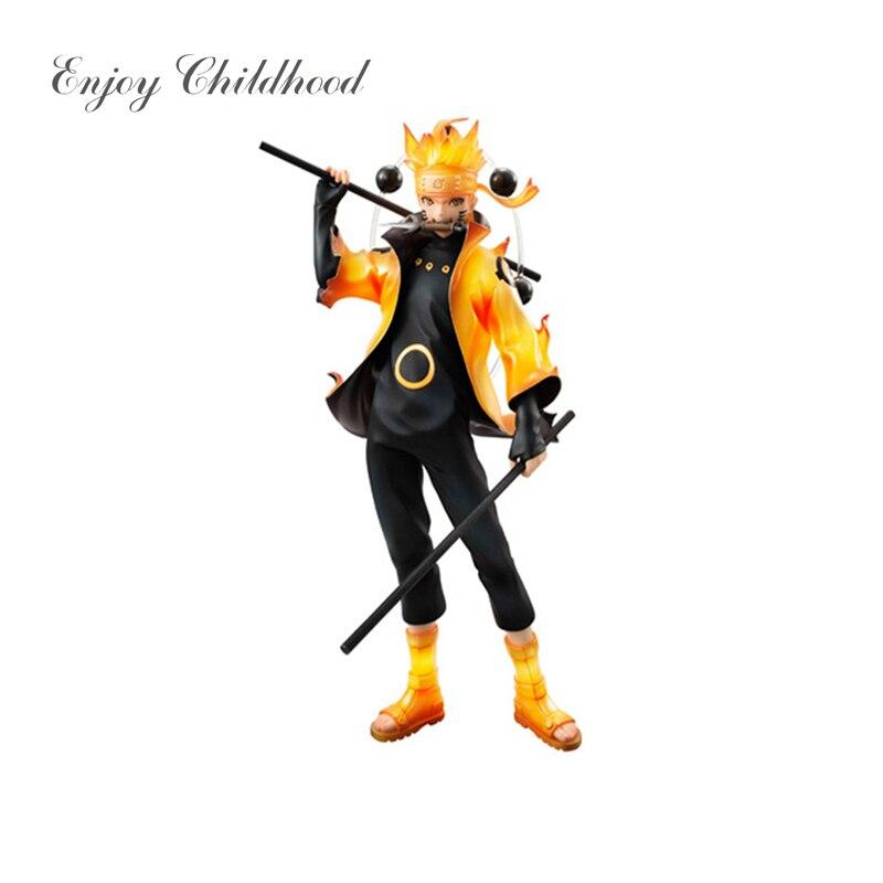 Uzumaki Naruto PVC Action Figure Model Naruto Immortal Model Collection Toy Dolls 22cm naruto action figures uchiha obito rikudousennin sharingan pvc model toy naruto shippuden movie anime figure obito light diy69