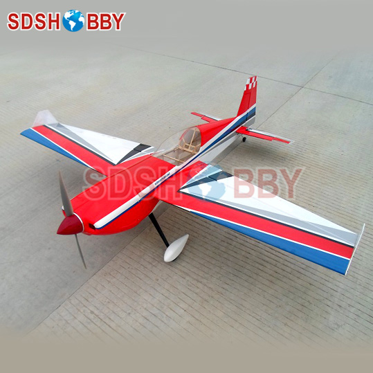 WM 57in Slick540 50E Balsa Wood RC Electric Airplane ARF V2 Standard Version-Red sport scale plane t 6a texan ii rc airplane gas 8 ch 30cc 78 7 balsa wood model