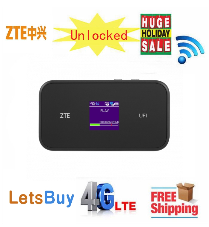 Unlocked ZTE MF980 UFi LTE Mobile Hotspot CAT9 450Mbps 4G Bands B1/B3/B5(26)/B7/B8/B20/B28/B32 B40(or B38 Or B41)